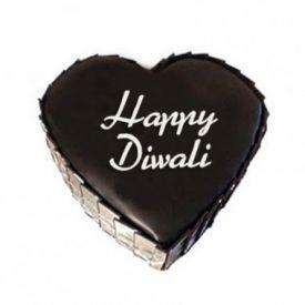Heart -shaped chocolate truffle cake