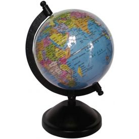 Blue Student Globe Desk & Table Top Political World Globe (Small Blue)