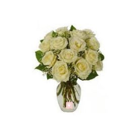 Bunch of 25 White Roses