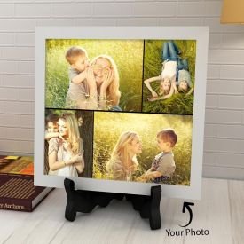 Square Tile With Personalized Collage Images