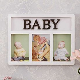 Baby Picture Frame White : Personalized Collage Frames