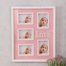 5 In 1 Love Pink Frame : Personalized Collage Frames