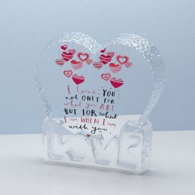 Valentine Day Special Heart Shape Crystal