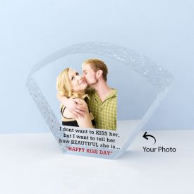 Exclusive Fan Shape Personalized Crystal