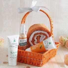 Basket Of Face Care Essentials