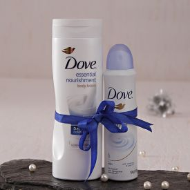 Dove Deep Care Body Lotion And Original Deodorant