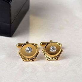 Gorgeous Golden Cufflinks In A Box
