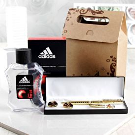 Adidas EDT Spray With Pen And Cufflinks Set