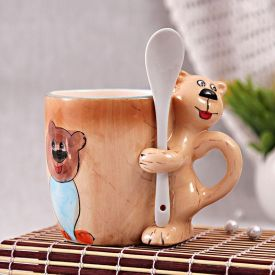 Animal Frame Mug With Spoon