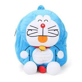 Doraemon Plush School Bag Blue