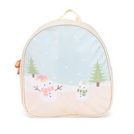 The Eed Cartoon & Trees Print School Backpack - Cream