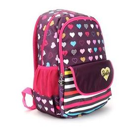 Barbie School Backpack Heart Print Pink And Purple