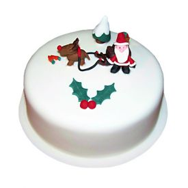 Happy Santa Christmas Cake