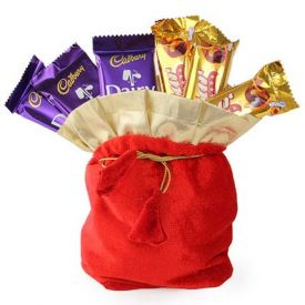 Red Chocolates Potli
