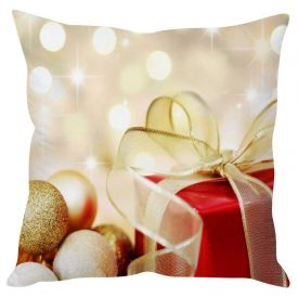 Christmas Gifts Cream Cushion Cover