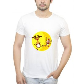 PosterGuy Men's White Cotton T-Shirt Xmas(Christmas Special)