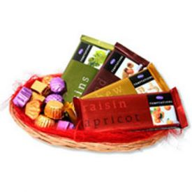 basket of 4 Temptations chocolates