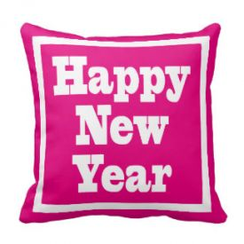 Happy New Year Throw Cushion