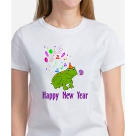 New Years Frog Women's T-Shirt