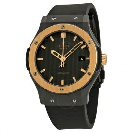 Golden black dial men watch