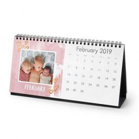 Boom of Celebration Personalized New Year Desk Calendar