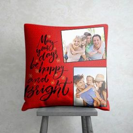 Happy and Bright Personalized New Year Cushion