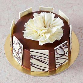 Chocolate Cake with White Chocolate Fence