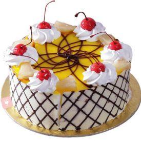 Round Pineapple Cake
