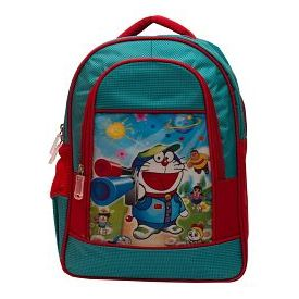 Arip Green & Red Polyester School Bag