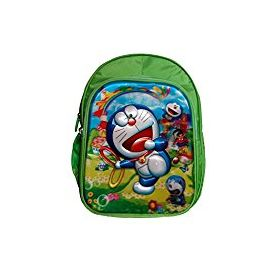 Batu Lee Worldcraft 5D Doraemon 18 inch Green Waterproof Children's Backpack (Green)