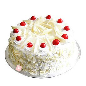 Eggless White Forest Cake