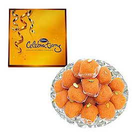 Box of Cadbury Celebrations with 500gms (gross weight) of Ladoo