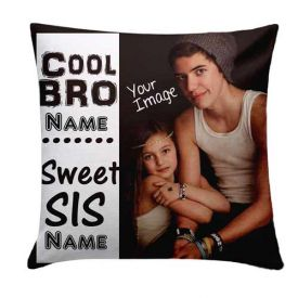 Bro Sis Cushion Personalized