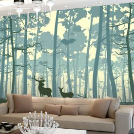 10x10 ft nature wall paper