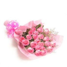 Blush bunch of 15 pink roses