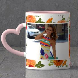 With Flowers and Love Personalized Anniversary Mug