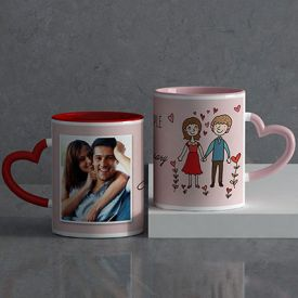 Lovely couple Personalized Anniversary Mug set