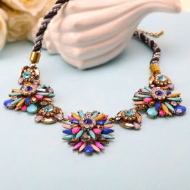 Colourful Flower Necklace
