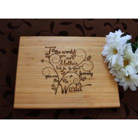 Mum's love wooden board
