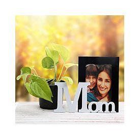Precious Mom Frame And Plant