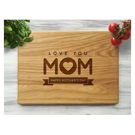Love you Mom personalized wooden board