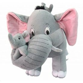 Tickles Cute Elephant with two babies Stuffed Soft Plush Toy Kids Birthday 55 cm