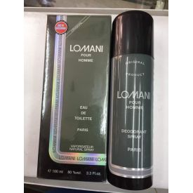 Lomani Pour Homme Deo and Perfume