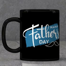 Happy Father's day Black Mugs