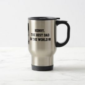 Best dad of the world steel mug