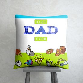 Best Dad personalized cushio