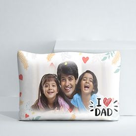I Love Dad personalized pillow