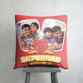 Super dad personalized pillow