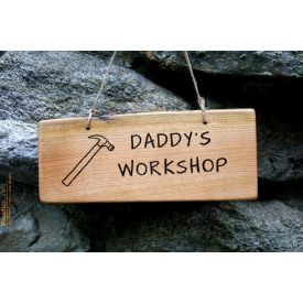 Daddy's workshop wooden Plaque