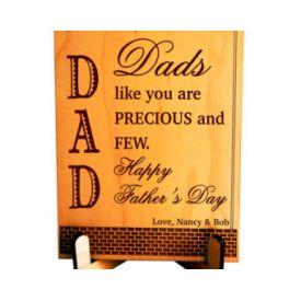 Precious Dad personalized Plaque